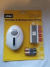 Rolson Wireless and Portable Door Chime, White Range up to 100 metres