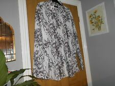 Mens Black & White Long Sleeve Shirt by Taylor & Wright  Size XXL