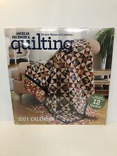 New 2021 American Patchwork Quilting Calendar with 12 Quilt Patterns