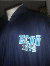 NWT ECKO UNLTD NAVY W/LIGHT BLUE TRIM L/S WARM UP JACKET SZ:5XB 5XL 5X