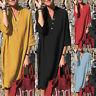 ZANZEA Womens Buttons V Neck Half Sleeve Cotton Dress Ladies Midi Shirt Dresses