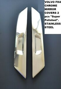 VOLVO FH4 CHROME MIRROR COVERS 2 pcs ''Super Polished''.  S. STEEL