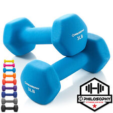 Neoprene Hex Dumbbell Hand Weights, Set of 2 - Workout Strength Training
