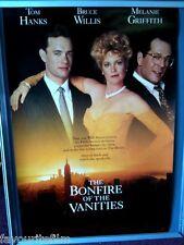 Cinema Poster: BONFIRE OF THE VANITIES 1990 (One Sheet) Tom Hanks Bruce Willlis