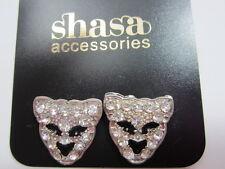 Crystal Leopard Stud Earrings