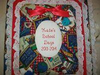 SCHOOL DAYS / MEMORY Personalized Photo Album / Scrapbook - HANDMADE