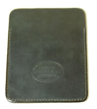 New Horween Gabarro Shell Cordovan Black Leather Card/Coin Case Free Shipping!