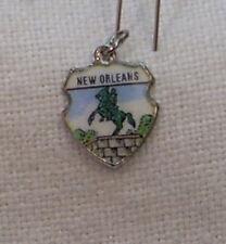 Vintage Reu Sterling/Enamel New Orleans, Louisiana Jackson Square Bracelet Charm