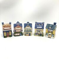 Avon Cottage Collection Houses Spice Holder Containers Labels 5 Buildings