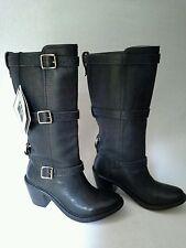 New Frye Carmen Ruggedly Stylish Triple Strap Mid Boot Leather Black Size 6 $388