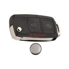SEAT LEON IBIZA ALHAMBRA AROSA TOLEDO CORDOBA 2 Button Flip Remote Key Fob Case