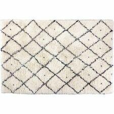 Habitat Berber Medium Cream Charcoal Grey Hand Woven Wool Rug 140cm X 200cm