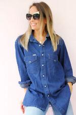 Maglie e camicie vintage da donna blu taglia L