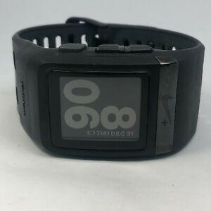 Nike+ WM0069 Mens Tomtom Black Polymer Wide Band GPS Runner Digital Sportwatch
