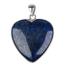 Colgante de collar de piedras preciosas de Lapis Lazuli en forma de corazon 1.R5