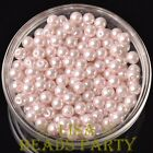 New 300pcs 6mm Round Czech Glass Pearl Loose Spacer Beads Baby Pink