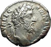 COMMODUS 192AD Rome Silver Authentic Ancient Roman Coin  Pietas w child  i76742