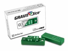 Ultra Pro Gravity Dice Emerald Green 2-Piece D6 Set 16mm Precision Machined