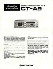 Bedienungsanleitung-Operating Instructions für Pioneer CT-A9