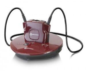 amplicomms TV 2410-NL Funkkopfhörer mit Verstärker, rot
