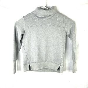 Womens Alo Yoga Haze Turtleneck Sweatshirt Size Medium Grey Activewear