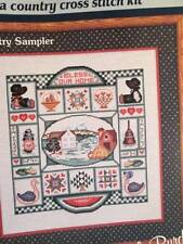 Dale Burdett Country Sampler Cross Stitch Kit-148x168 Stitches (10.5x12 Inches)