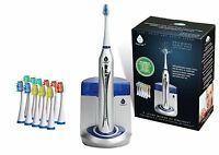 Pursonic S450 Sonic Deluxe Rechargeable Toothbrush with UV Sanitizer, Silver