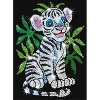 Sequin Art Red 0906 Toby the White Tiger