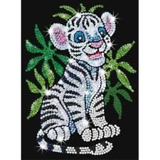 Arte De Lentejuelas Rojo 0906 Toby el Tigre Blanco