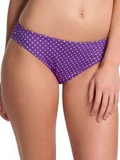 Bas bikini FREYA pier SLIPS CLASSIQUE talla XL o 44 violeta de topos
