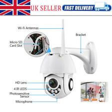 2MP Wireless Wifi IP Camera 1080P Full Color PTZ Outdoor Waterproof 5X Zoom UK