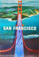San Francisco California Golden Gate United States Travel Advertisement Poster