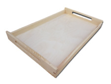 Wooden Tea Meal Serving Tray Waiter Tableware Bar Dining Kitchen Caddy TK64P