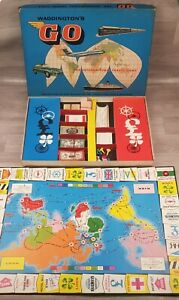 Waddington's VINTAGE Go Board Game 1961 COMPLETE good condition