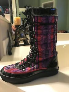 Coach Women's multicolor Peggey Winter Boots size 8 pre-owned