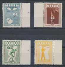 PERU 1948 OLYMPICS Sc C78-C81 Yvert PA71-74 FULL SET MARGINAL SINGLES MNH VF €70