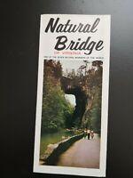 """Flyer: """"Natural Bridge of Virginia"""" Virginia USA / 60er Jahre !!!"""