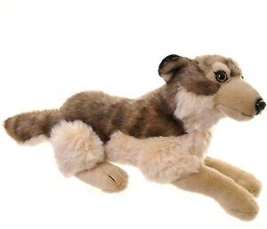 Lying Wolf Soft Toy 41cm (RB561)