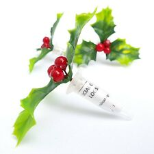 Sneaky Festive HOLLY Geocache Nano Container Ready to Hide W/Waterproof Log