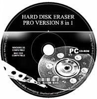 Erase HDD Hard Drive Wipe Clean Format Destroy Delete Clean Data PC CD Eraser