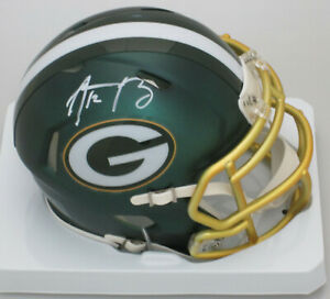 Packers AARON RODGERS Signed Riddell BLAZE Mini Helmet AUTO  - NFL MVP - Stnr