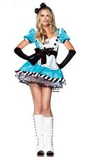 NEW Alice in Wonderland Fancy Dress Halloween French Maid Cosplay Costume S-2XL