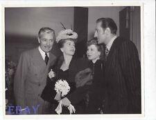 Mr & Mrs Basil Rathbone Ronald Colman Joan Fontaine candid VINTAGE Photo