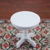 Puppenhaus Miniatur Möbel Weiß Runder Tisch Modell Für 1/12 Skala Kaffee NE Z8E2