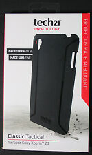 TECH21 IMPACTOLOGY CLASSIC TACTICAL PHONE CASE FOR SONY XPERIA Z3 - BLACK - NEW