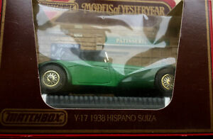 Matchbox Models Of Yesteryear Y17 1938 Hispano Suiza 2 Tone Diecast BOXED Car