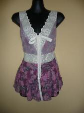 Free People Georgette & Lace Top blouse sz 6,S NWT