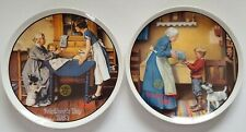 Set of 2 Norman Rockwell Mother's Day Knowles Collectors Plates