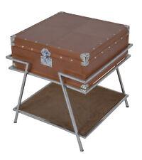 Handmade Designer Tan Leather Side Table cum bedside