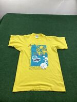Vintage Mount Dora Bicycle Festival Shirt Sz Small Yellow FAST SHIPPING
